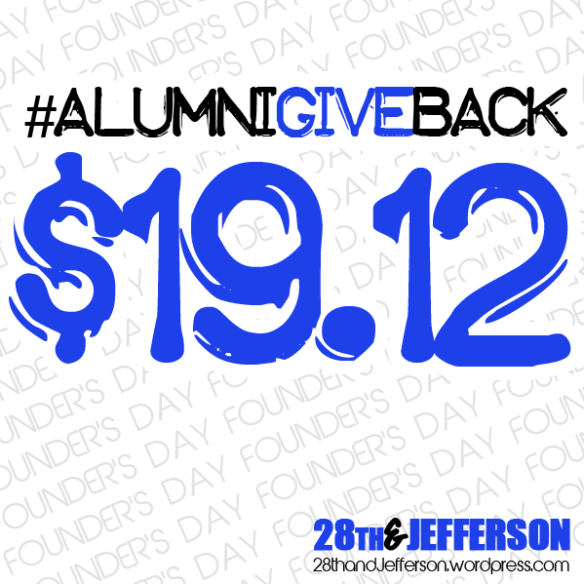 [$19.12] Founder's Day Alumni Give Back!